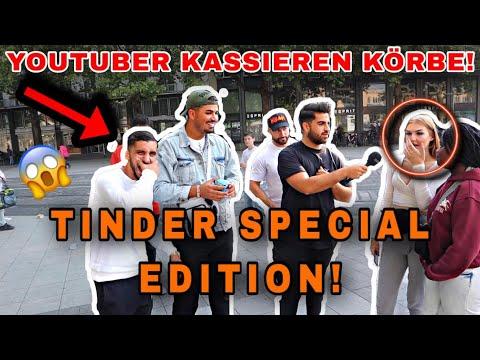 Tinder Special Edition ⁉️😱 | YouTuber kassieren Körbe🤣 | Gazi D