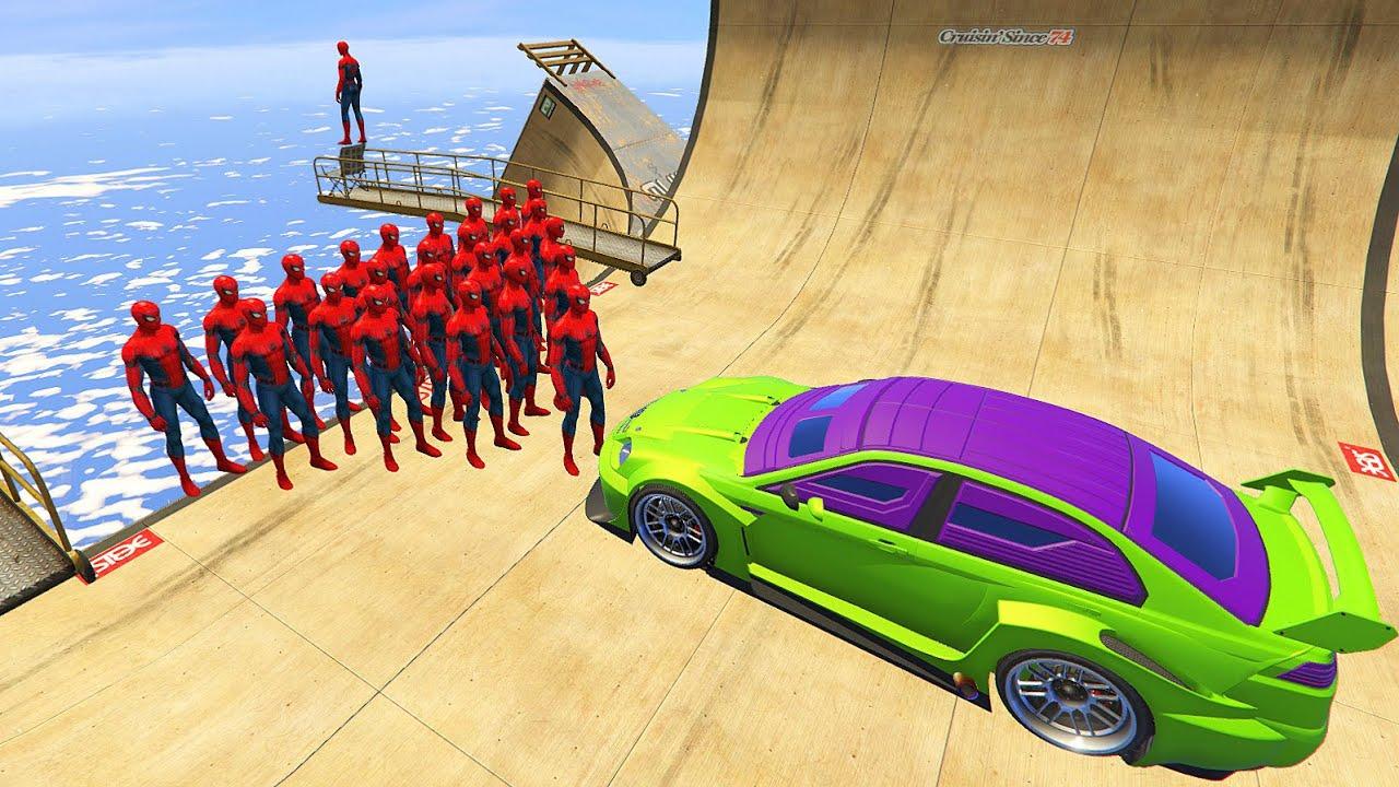 GTA 5 Water & Crazy Ragdolls SPIDERMAN vol.1 (Euphoria Physics, Funny Moments) Jumps/Fails & Falls