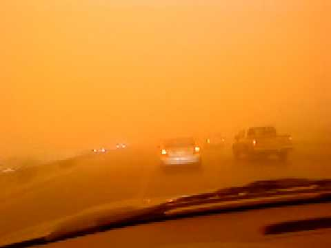 حالة الطقس في الرياض الثلاثاء 10 3 2009 الجزء الثاني Youtube