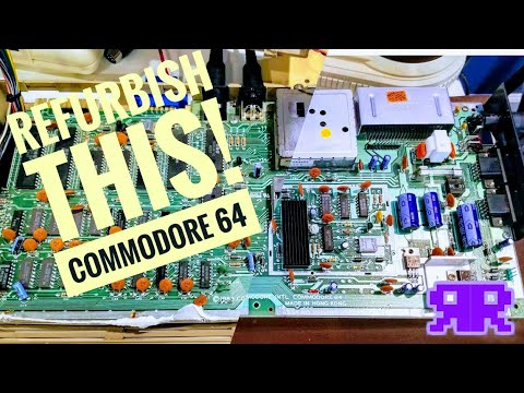 Refurbish This! C64 Part 1/2 - Stunning Commodore 64 Respray, Recap, Clean, Modernize & Heatsink