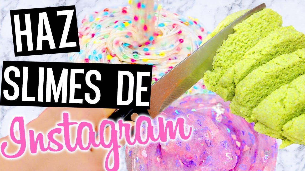 Haz Slimes de instagram! Súper fáciles (sin borax) + Slime sólo con COLA y AGUA!! Con ASMR