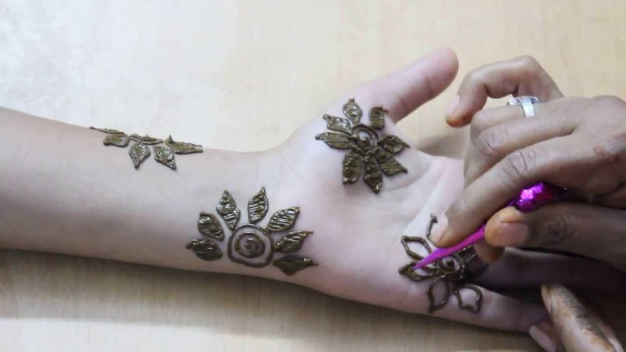 Beautiful Leaf Floral Mehndi Designs For Hands - Simple Flower ...