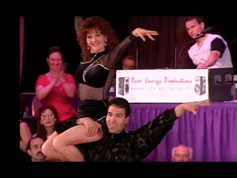 Kevin Cruz and Carrie Lucas dance at the US Swing Dance Championships in 1996