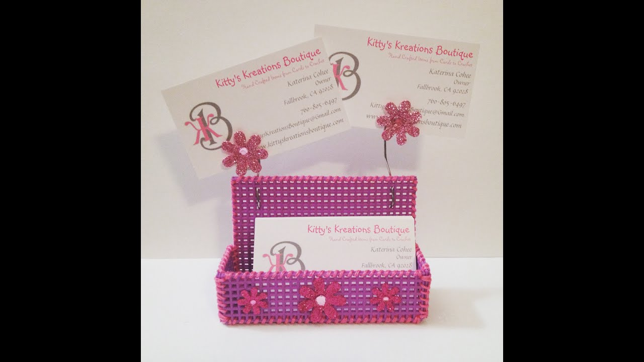 DYI Business Card Holder! Plastic Canvas & Embroidery Floss - Super ...