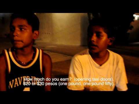 Interviews with school children who work in Lazaro, Mexico