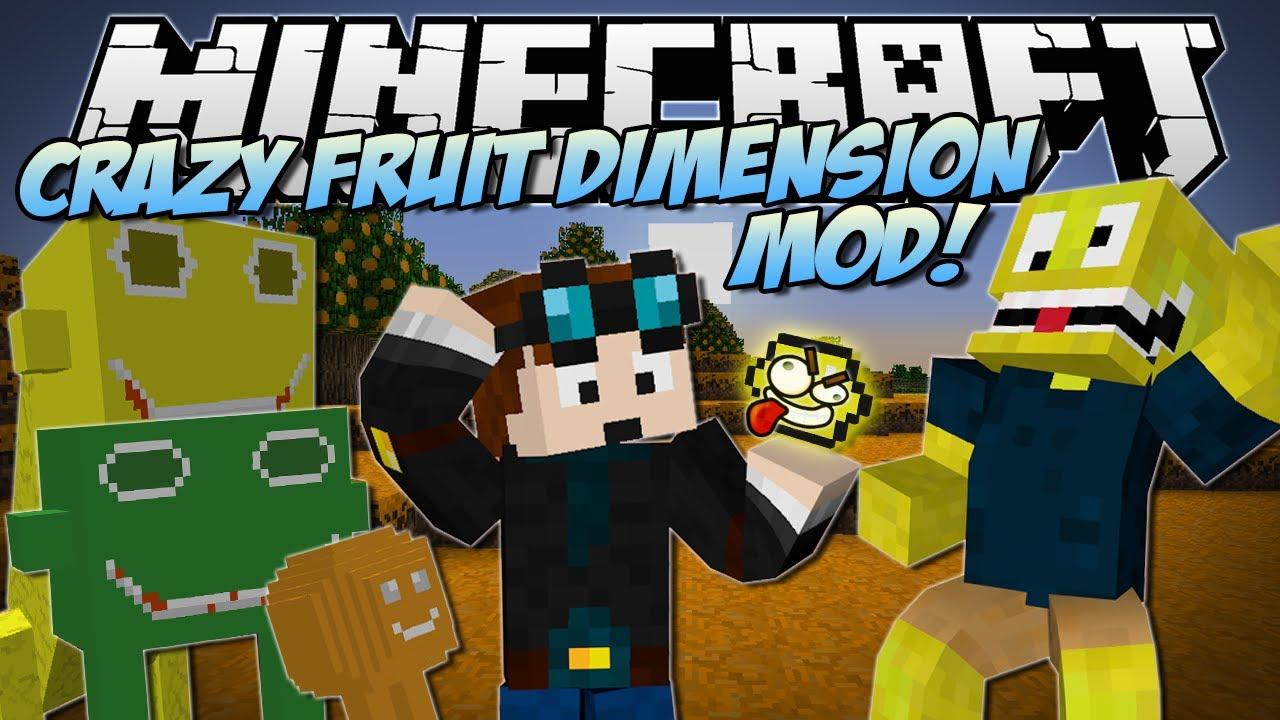 Minecraft   CRAZY FRUITS DIMENSION MOD! (Beware the Lemonator King!)   Mod Showcase