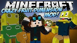 Minecraft | CRAZY FRUITS DIMENSION MOD! (Beware the Lemonator King!) | Mod Showcase