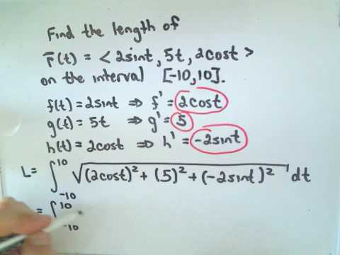 The Arc Length of a Vector Function