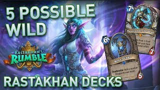 Five Possible Wild Rastakhan Decks | Hearthstone | [The Boomsday Project]