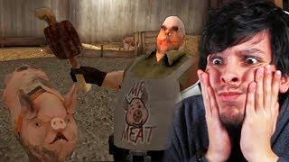 EL CERDO DEL CARNICERO ME QUIERE COMER !! NUEVA ACTUALIZACIÓN - Mr Meat (Horror Game)