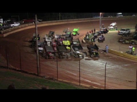 Lavonia Speedway USCS Winged Sprint Cars Feature Race 9/4/15