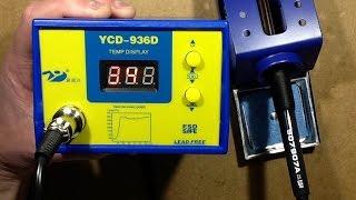 936D digital soldering station test and internal look.