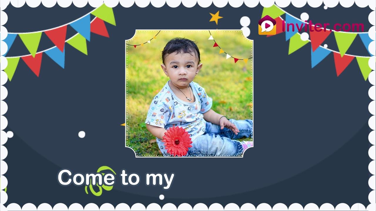 first birthday invitation whatsapp video 2019 inviter com
