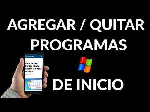 ¿Cómo Agregar, Cambiar y Quitar Programas al Iniciar Windows?