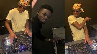 KUAMI EUGENE AND KIDI DO A DJ CHALLENGE