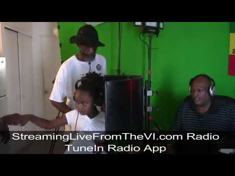 Milan McCambry at StreamingLiveFromTheVi.com Radio Station working...