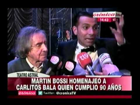 El emotivo homenaje de Martín Bossi a Carlitos Balá