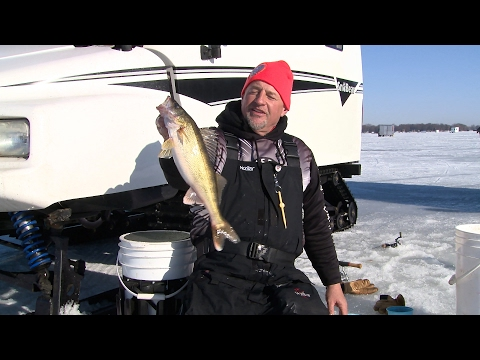 Ice Fishing Winnebago Walleyes And Crappies