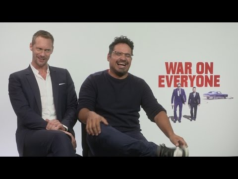 War On Everyone: Alexander Skarsgard and Michael Pena talk bromance, relationships and ABBA