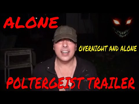"(Overnight ALONE Challenge)  POLTERGEIST TRAILER, ""WARNING DO NOT WATCH ALONE""  EVIL LIVES HERE"