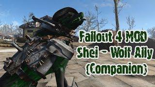 Fallout 4 мод Shei - Wolf Ally Companion