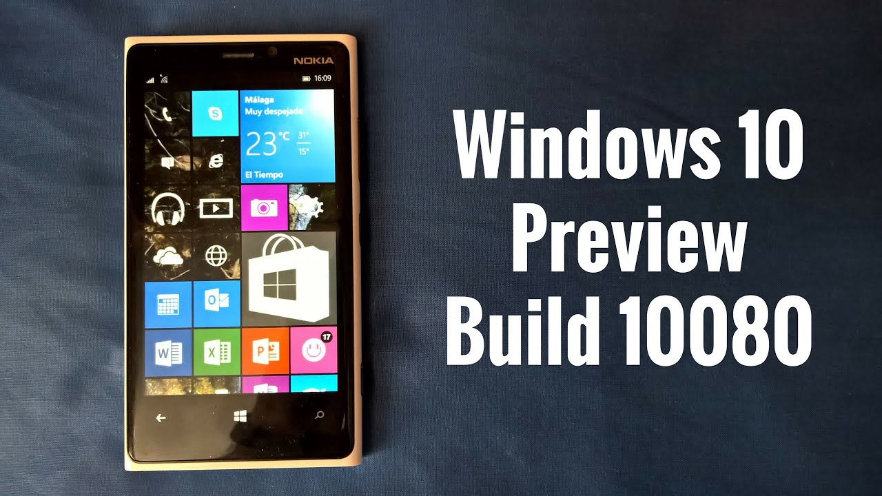 Windows 10 Mobile Preview Build 10080, novedades