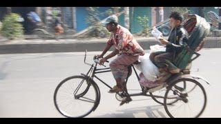 Rickshaw Ride in Old Dhaka, Bangladesh & near the India - Bangladesh border