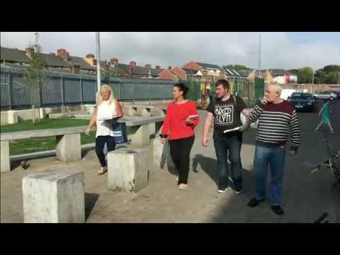 Sinn Féin canvassing in Ballybough, Dublin's north inner city