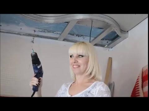 видео: Потолок в кухне из гипсокартона за 5 минут