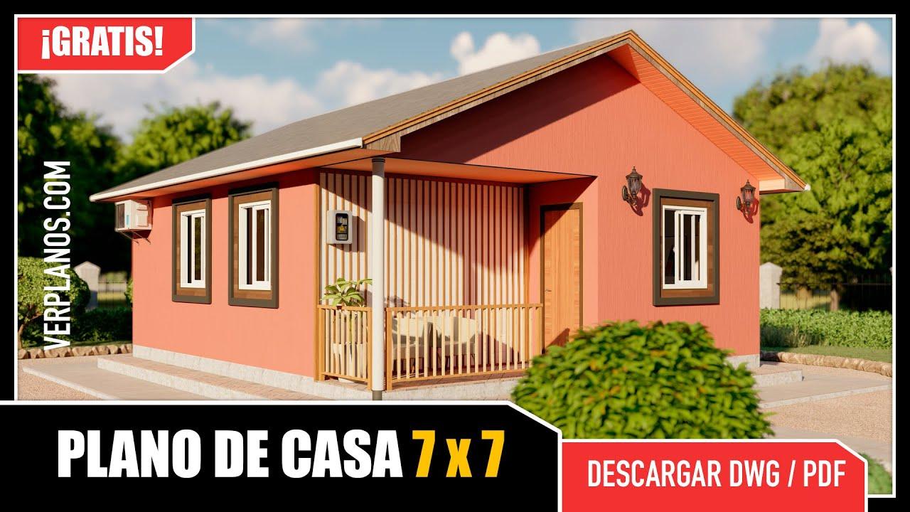 ✅ Plano de Casa Pequeña y Económica ¡GRATIS! #2 Dormitorios