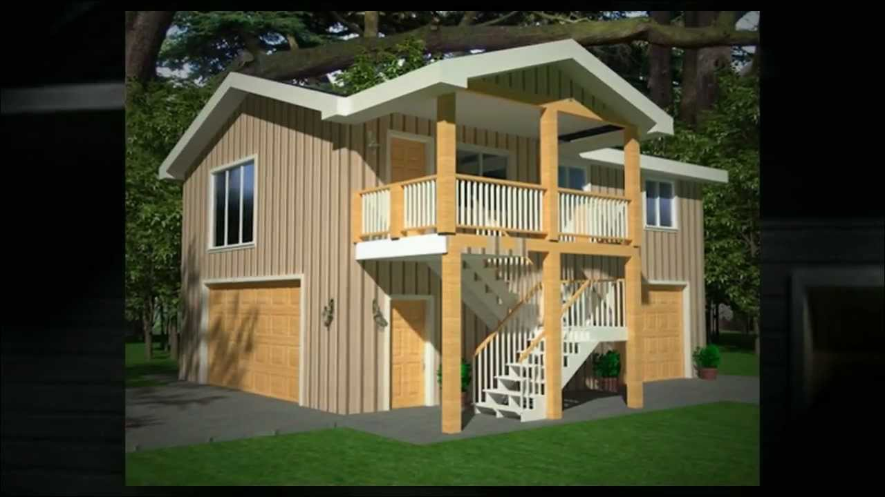 Garage with apartment plans youtube for Carport with apartment above