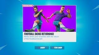 THE FOOTBALL SKINS ARE RETURNING! FORTNITE FOOTBALL SKIN RETURNING DATE IS SOON!