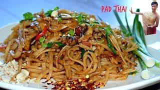 Vegan Pad Thai    Popular Thai Street Food   How to Make Pad Thai (vegetarian)