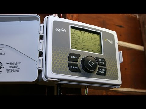 Orbit B-Hyve 12-Station WiFi Sprinkler Timer install and setup