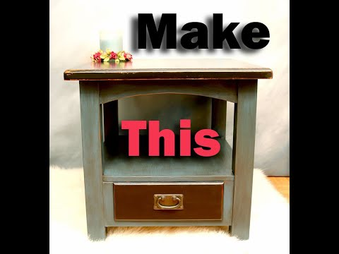 DIY | Glazing Basics with Wood Stain on Chalk Paint | Refurbishing a Table