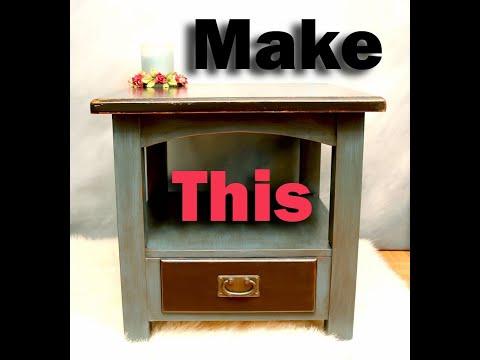 DIY My Way | Glazing Basics with Wood Stain on Chalk Paint | Refurbishing a Table