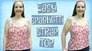 Download DIY Easy Spaghetti Strap Tank Top with Bias Tape Straps | Sewing Projects for Beginners Mp3 and Videos