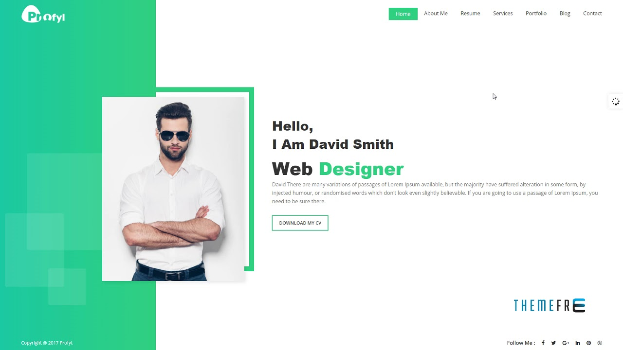 Profyl   Personal Vcard Resume HTML Template | Free Template