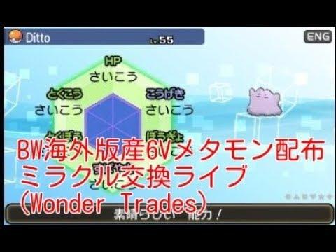 【海外産!BW乱数産6V&5VS0メタモン配布!】ポケモンUSM ミラクル交換ライブ