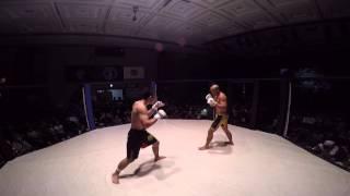 GoPro Hero4 Chest Mount MMA Fight Referee Cam   Frank The Crank Camacho def Miura Yasuaki   MMA