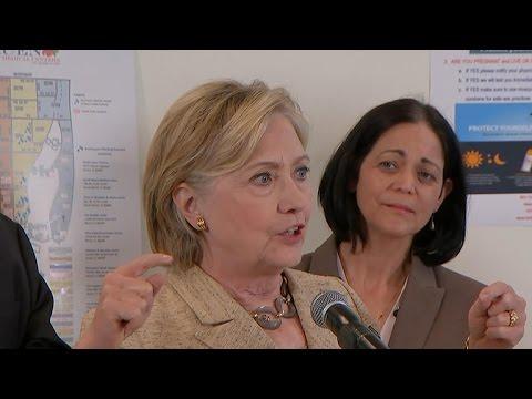 Hillary Clinton addresses Zika outbreak, funding logjam