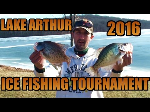 ICE FISHING TOURNAMENT 2016 - Western Pa Hardwater Tournament Series Lake Arthur