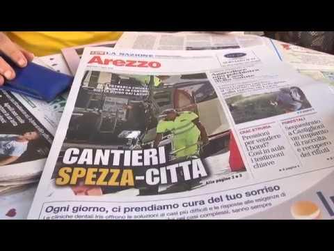 Arezzo, la morsa dei cantieri: via Petrarca e zona Giotto con i cartelli in dialetto aretino!