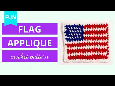 Crochet American Flag Applique Tutorial (quick & Easy!)