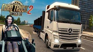 Девочка хочет в Тамбов :)  - Euro Truck Simulator 2 на руле Fanatec