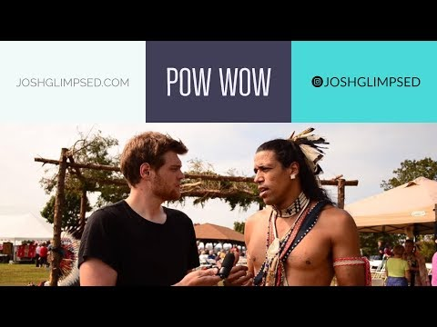 I visit a Native American Indian Pow Wow  America USA
