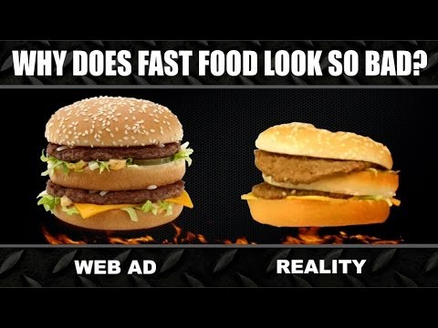 Thumbnail: Fast Food ADS vs. REALITY Experiment