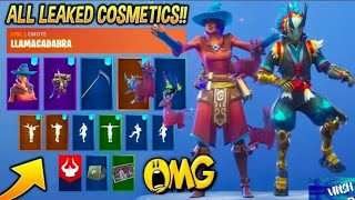 *NEW* Leaked Fortnite Skins & Emotes.!! (Elmira, Bombastic, LlamaCadabra, Power Cord Male)..!!