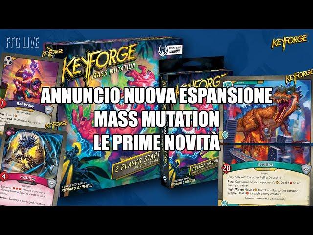 Il Crogiolo inizia a mutare, l'annuncio della nuova espansione | Keyforge: Mass Mutation
