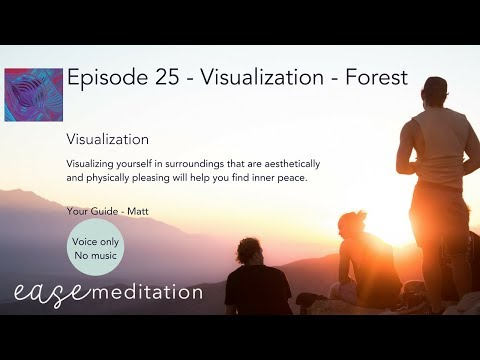 EASE GUIDED MEDITATION - Visualize Yourself in a Relaxing Forest - (Without Music)